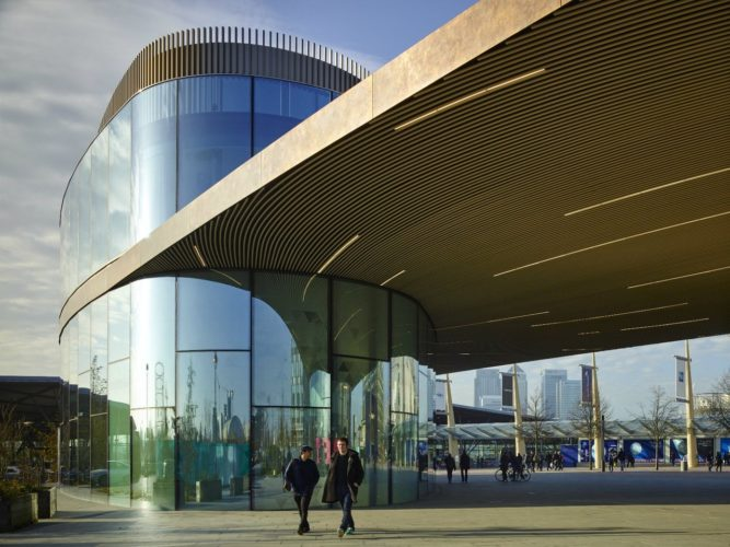 Metal Cladding Panels for Greenwich Marketing Hub